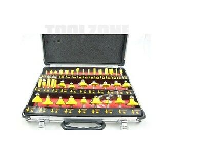 "Toolzone 35Pc 1/4"" Shank Router Bit Display In Case"