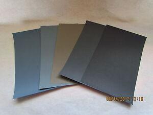 Sandpaper Combo Pak 20 PC. 1000/1500/2000<wbr/>/2500/3000 Grit  4.5 X 5.5
