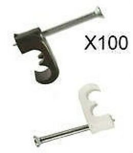 TWIN-CABLE-CLIPS-SKY-HD-WF63-SHOTGUN-DOUBLE-BLACK-WHITE-CLIP-FREESAT-PLUS-X-100