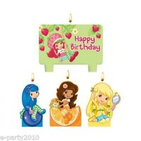 Strawberry Shortcake Mini Candle Set (4pc) Birthday Party Supplies Decorations
