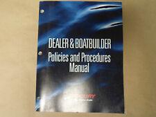 1999 Mercury Dealer & Boatbuilder Policies and Procedures Manual 90-877855 Boat
