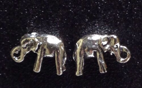 Sterling Silver Thick /& Solid Elephant Post Stud Earrings 1 Matched Pair New