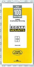 Prinz Scott Stamp Mount 100/240 BLACK Background Pack of 7