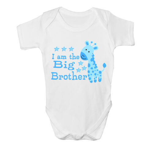 I am the Big brother Baby Vest cute grow Funny bodysuit New Gift Boys Design