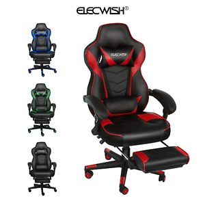 Ergonomic Office Racing Chair With Footrest