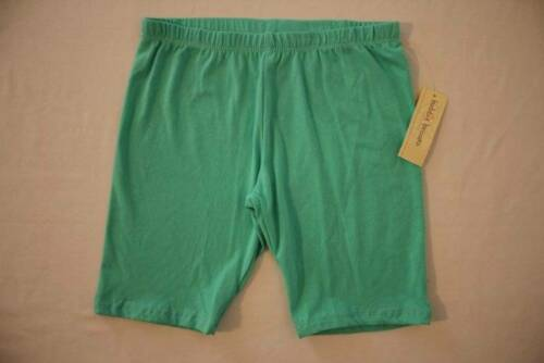 NEW Girls Pull On Bermuda Shorts Size Large 10-12 Green Summer Casual Stretch