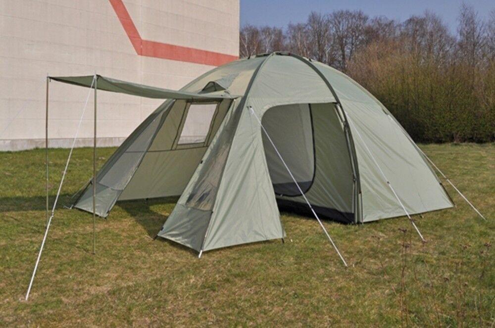 Familienzelt für 4 Personen Campingzelt mit Vorzelt Igluzelt grün grün grün 62145 609238
