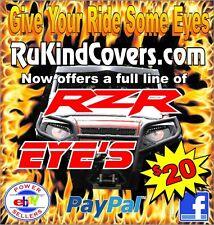 Polaris Sportsman 570 EFI HD HULK GREEN Eyes RuKind HeadLight Covers head light