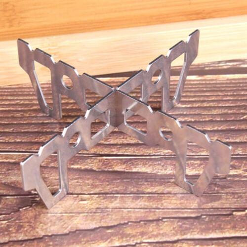 Alcohol Stove Stand Rack Burner Base Cross Bracket Holder Outdoor Camping Tool