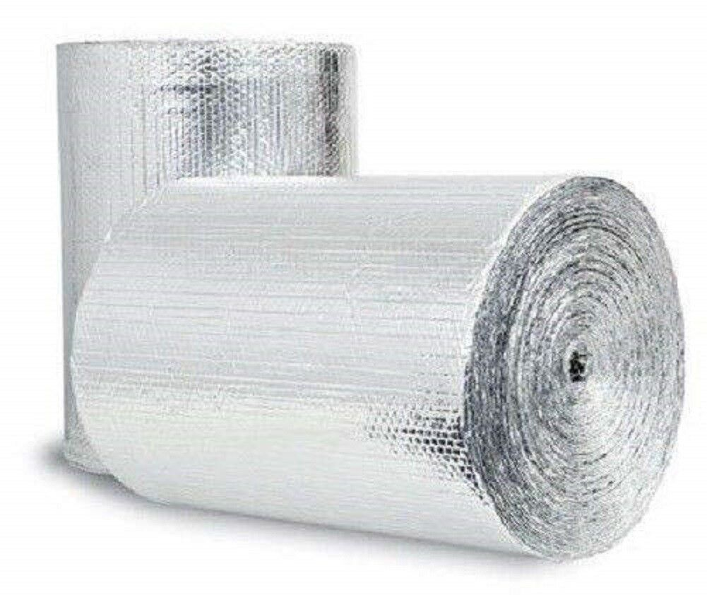 100sqft R8 Reflective Insulation Garage HVAC Duct Pipe Faucet House Attic Wrap