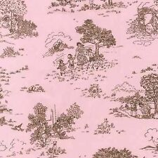 Robert Kaufman Cozy Cotton FLANNEL 10530-97 Scenic Toile Rose BTY Cotton Fabric