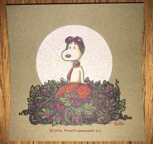 Marq Spusta Snoopy Song of Love Print Peanuts Handbill Charles Schultz Halloween