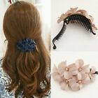 Fashion Women's Crystal Flower Rhinestone Hair Pins Hairpin Clip Barrette w