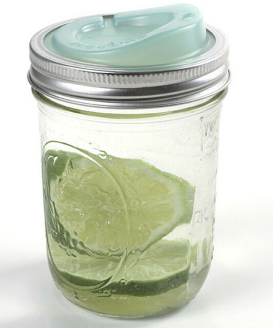 USA Made Cuppow Lid Turns Wide Mouth Mason Jar into Sippy Cup Travel Mug Green