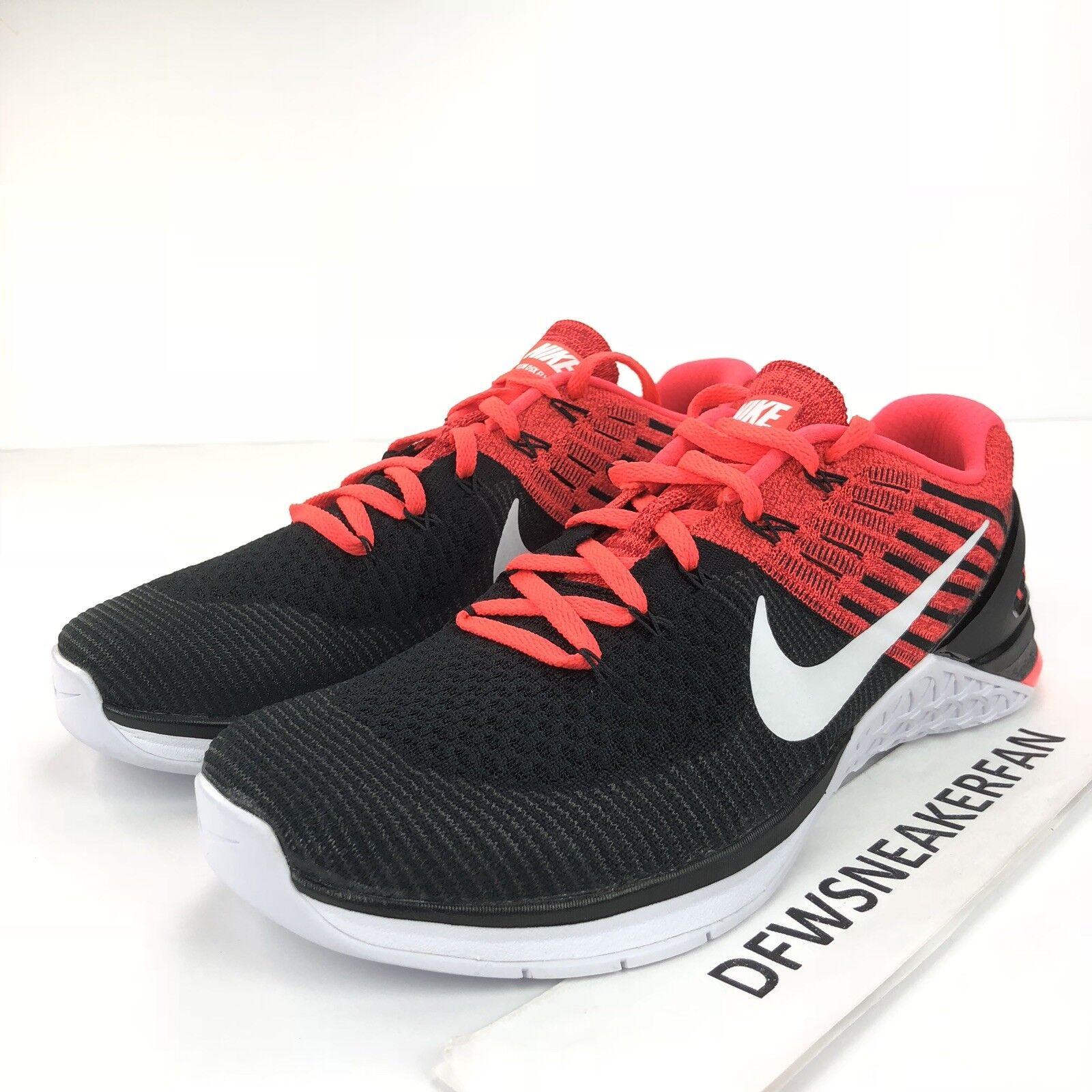 Nike Metcon DSX Flyknit Training shoes Men's Size 9 Crimson Black 852930 009 New