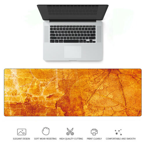 Large Marble Grain Game Mouse Pad Home Office Computer Desk Mat For Laptop PC/</<
