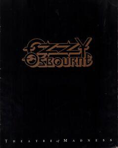 OZZY OSBOURNE 1992 THEATRE OF MADNESS TOUR CONCERT PROGRAM BOOK / EX 2 NMT