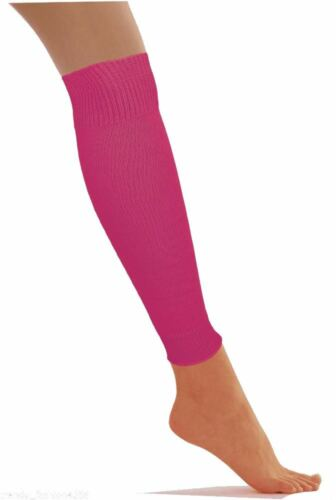 Girls Ladies Plain Knitted Leg Warmers Winter Dance Party Fancy Dress Accessory