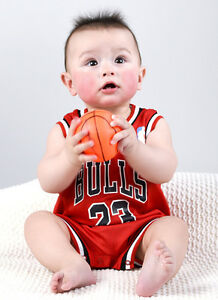 separation shoes 50e2a 62673 Details about Baby Basketball Romper Jumpsuit Jersey Chicago Bulls -  Michael Jordan (with bib)