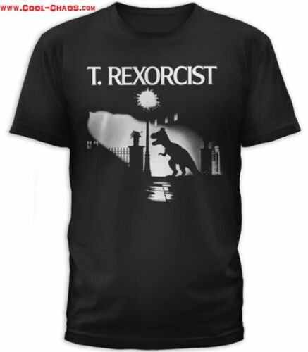 T-Rex T-Shirt Men/'s T-Rexorcist Exorcist Horror Movie Spoof TShirt