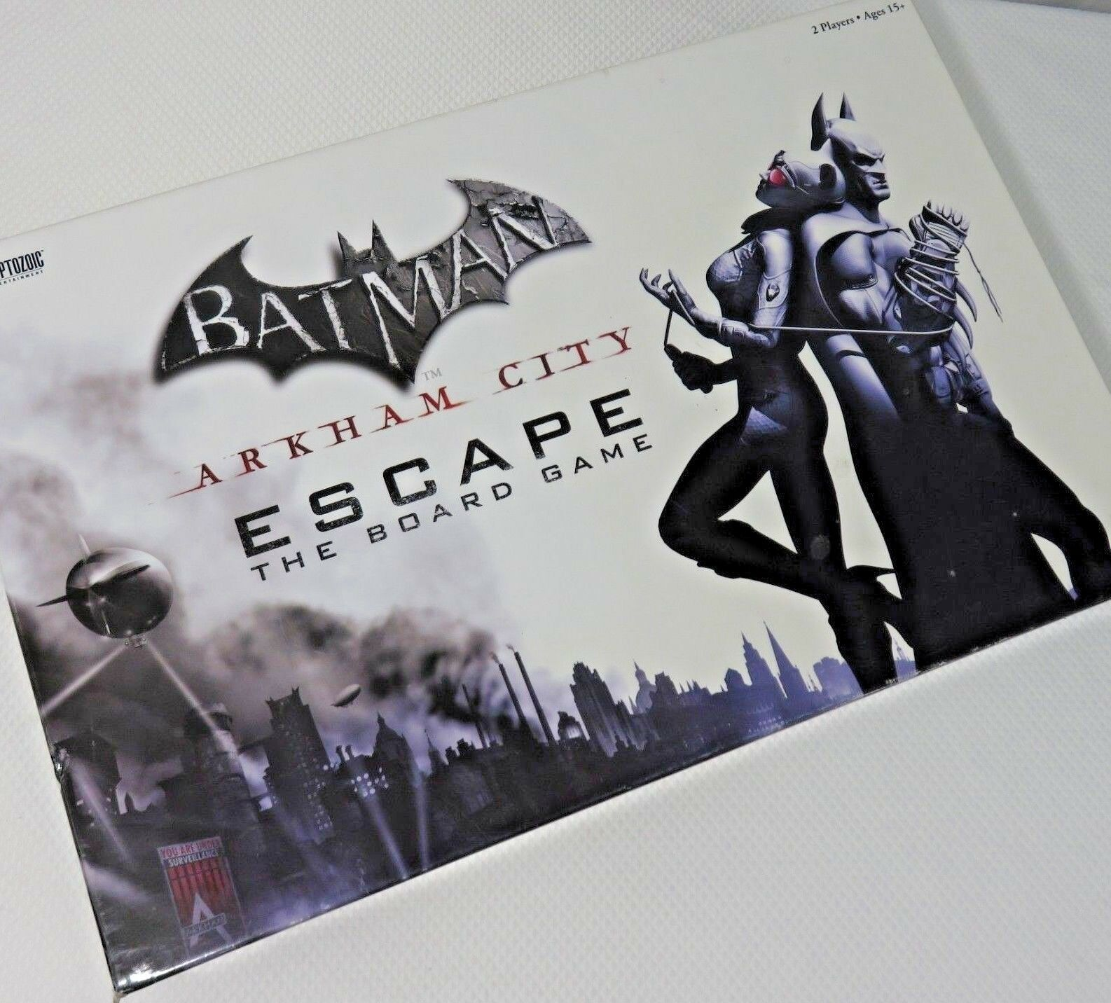 Batman Arkham City Escape Board Game Open Box DC Comics Cryptozoic Complete