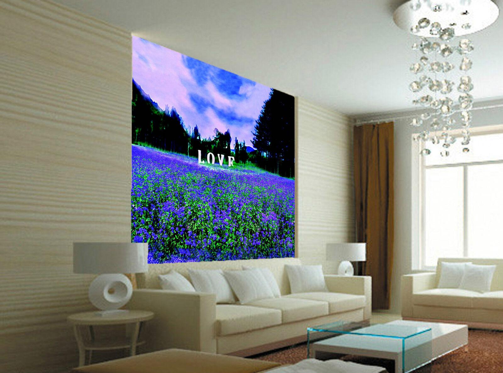 3D Lavendel Manor 6872 Fototapeten Wandbild Fototapete BildTapete Familie DE