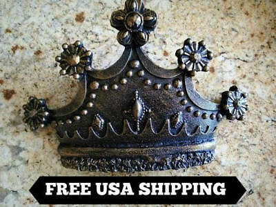 Crown, Wall Plaque, Old World, Medieval, Fleur de Lis, Cross, Queen, King, Decor
