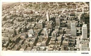 1940s-Kansas-City-Missouri-Aerial-View-Business-District-RPPC-Real-photo-6273