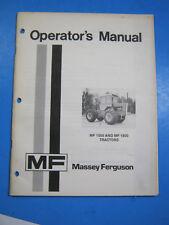 Massey Ferguson Mf 1500 1800 Tractors Operators Manual Oem Original 1975
