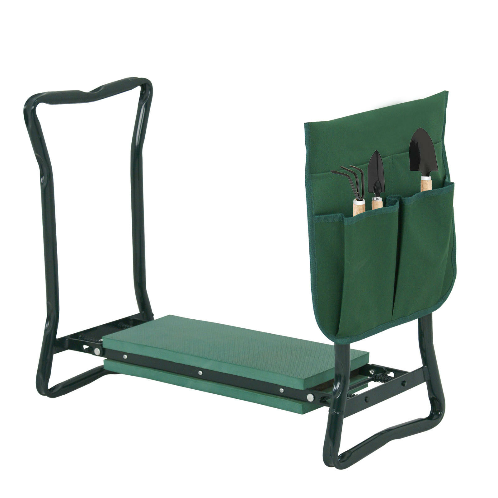 Marvelous Foldable Kneeler Garden Kneeling Bench Stool Soft Cushion Seat Pad W Tool Pouch Cjindustries Chair Design For Home Cjindustriesco