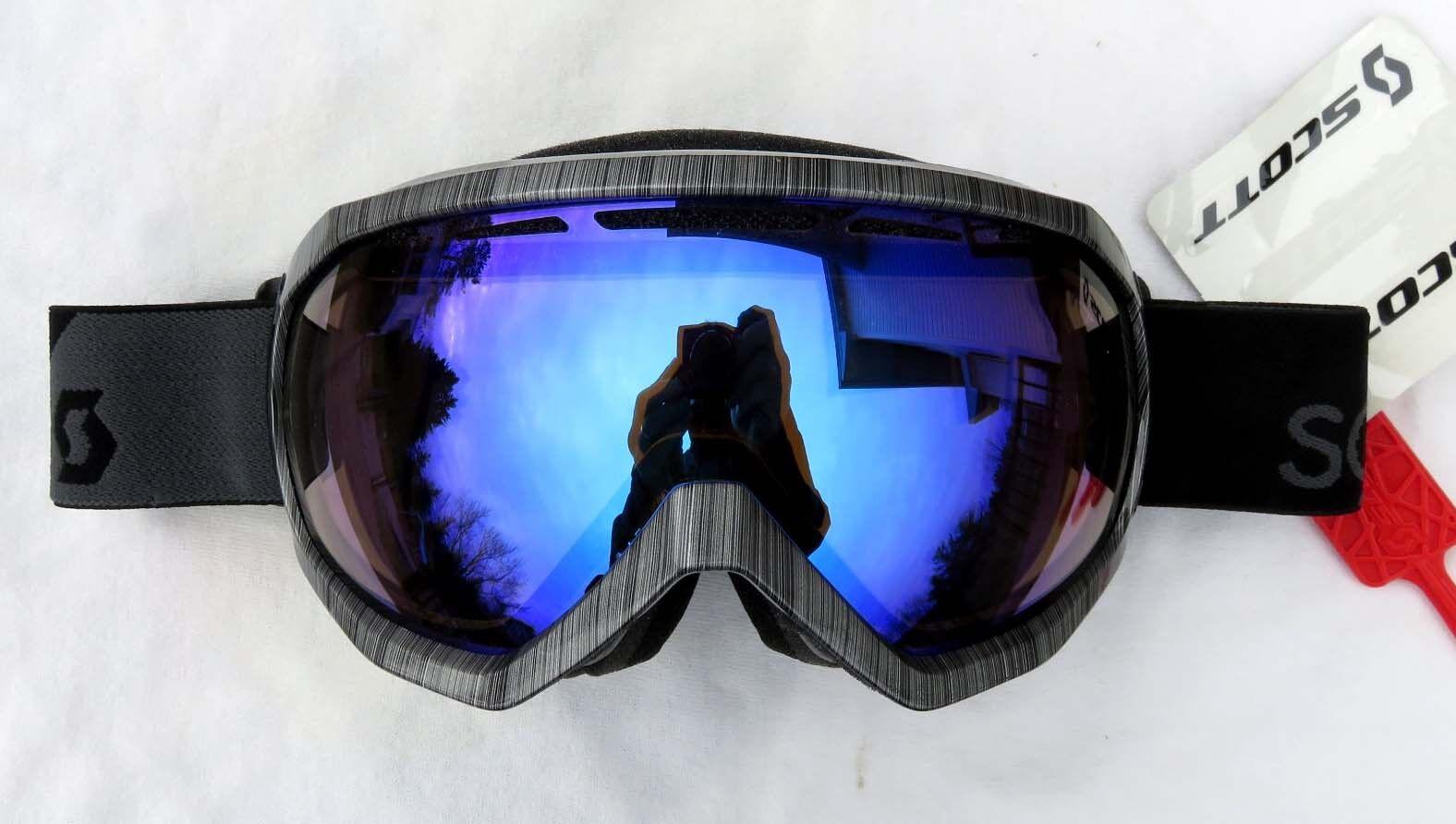 120 Scott Mens Notice OTG Over The Glasses Steel Grey Ski Goggles Illuminator