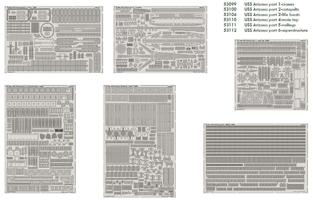 Eduard Accessories Big5323 - 1 200 Uss Arizona Arizona Arizona 1 200 -Part I. For Trumpeter - De  | Neuer Stil  908544