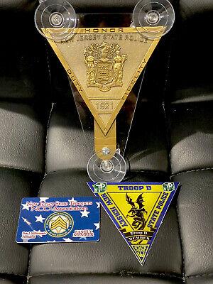 05 NJSP  NEW JERSEY STATE POLICE   POLICE SUPPORTER CAR SHIELD NJSP FOP