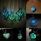 Magic Luminous Steampunk Fairy Heart Locket Glow In The Dark Pendant Necklace