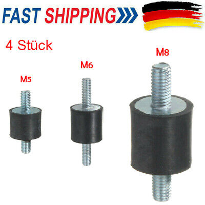 M8 Gewinde Silentblock DE 4X Gummi Stoßdämpfer Anti Vibration Gummilager//Halter