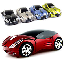 Colorful 3D Optical Wireless Mouse Mice Car Shape 1600DPI USB Receiver PC2.4GHz