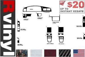Matte Red Rdash Dash Kit Decal Trim for Toyota 4Runner 1999-2002