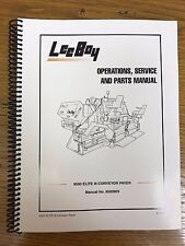 Oem Leeboy 8500 Elite 3 Conveyor Paver Operation Service Parts Manual Book