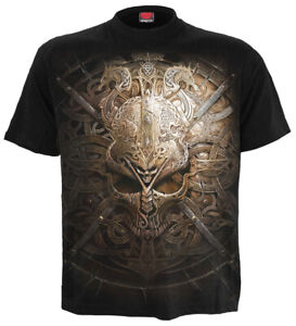 Spiral-Direct-VIKING-SHIELD-Mens-Norse-Celtic-Warrior-Sword-T-Shirt-Clothing
