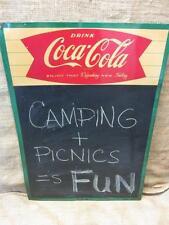 Vintage 1961 Coca-Cola Menu Chalk Board Sign > Antique Coke Soda 9632