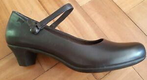 CAMPER HELENA scarpa da donna tacco basso marrone scuro in pelle superiore, stile 20202-080