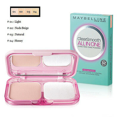[MAYBELLINE] Clear and Smooth All in One Shine Free Cake Face Powder SPF32 PA+++