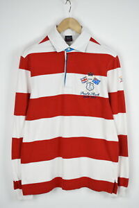 PAUL-amp-SHARK-YACHTING-Men-039-s-LARGE-Polo-Neck-Striped-Rugby-Shirt-28238-JS