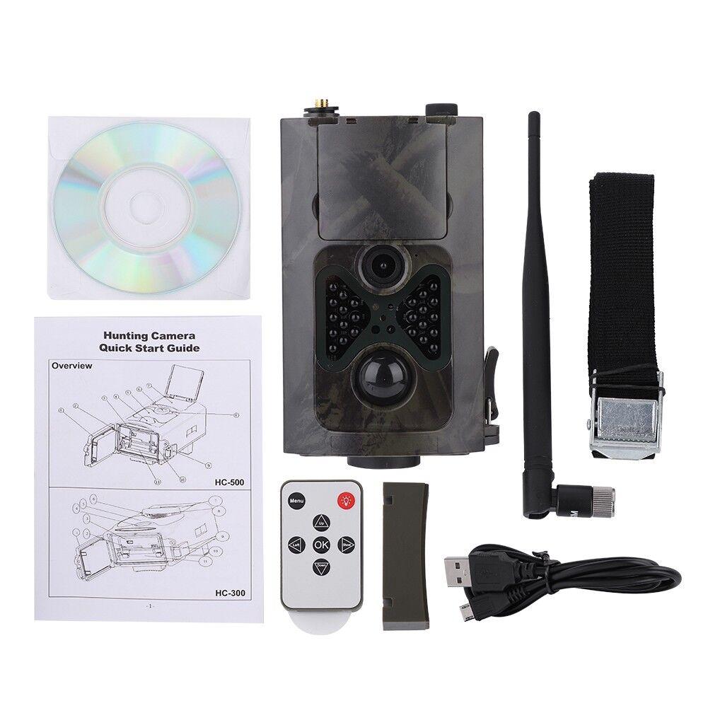 HC-550G HD 1080P cámara digital de caza Scouting Infrarrojo Trail 16MP 3G Mms Gprs