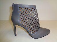 Antonio Melani Size 8 M Mena Gray Leather Ankle Pumps Heels Womens Shoes