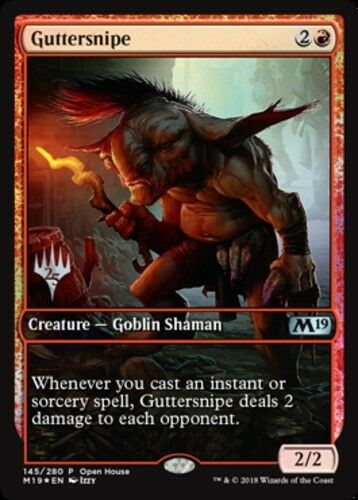 1x Guttersnipe 2018 Open House Promo FULL ART MTG Unique /& Misc Promos NM Mag