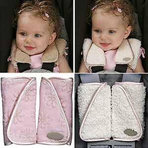 KQ_ BT_ BG_ CO_ 1 Pair Baby Car Seat Belt Strap Cover Pads Highchair Stroller Sh