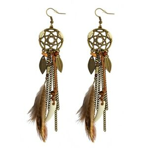 New-Bohemia-Feather-Beads-Long-Design-Dream-Catcher-Earrings-for-Women-Jewelry