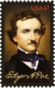 2009 42c Edgar Allan Poe, American Author, The Raven Scott 4377 Mint F/VF NH