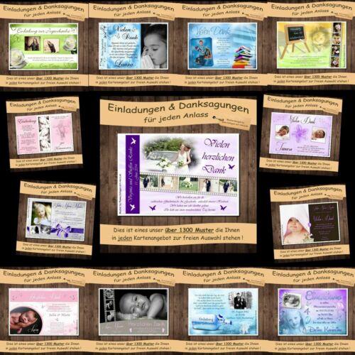 10 Einladung Danksagung Taufe Geburt Taufe Kommunion Hochzeit Traufe
